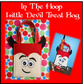 In The Hoop Little Devil Halloween Treat Bag