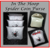 In The Hoop Spider Coin Purse Embroidery Machine Design