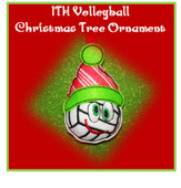 In The Hoop Christmas Volleyball Ornament Embroidery Machine Design
