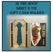 In The Hoop Suit n Tie Gift Card Holder Embroidery Machine Design