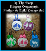 In The Hoop Elegant Ornament Mother & Child Embroidery Machine Design Set