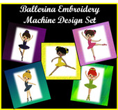 Ballerina Girl Embroidery Designs for Embroidery Machines