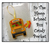 In The Hoop School Bus Candy Pocket Embroidery machine Design