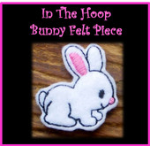 In The Hoop Bunny Felt Piece Embroidery Machine Design Set