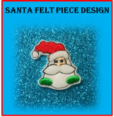 In the Hoop Santa Felt Piece Embroidery Machine Design