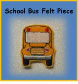 In The Hoop School Bus Felt Piece