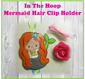 In The Hoop Mermaid Hair Clip Holder Embroidery Machine Design