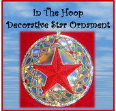 In The Hoop Decorative Star Ornament Embroidery Machine Design