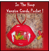 In The Hoop Vampire Mouth Candy Pocket Embroidery Machine Design