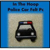 In The Hoop Police Car Felt Pc Embroidery Machine Design