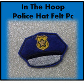 In the Hoop Police Hat Felt Pc Embroidery Machine Design