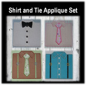Shirt and tie Applique Embroidery Machine Design Set