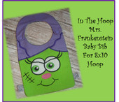 "In The Hoop Mrs. Frankensteirn Baby Bib Embroidery Machine Design for 8""x10"" Hoop"