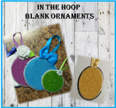 In The Hoop BLANK Ornaments Round and Oval Embroidery Machine Design