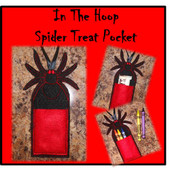 In The Hoop Spider Treat Pocket Embroidery Machine Design