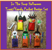 In The Hoop Halloween Treat & Candy Pocket Embroidery Machine Design Set