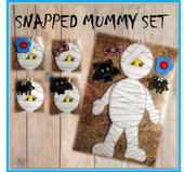 In The Hoop Snapped Mummy Embroidery Machine Design Set