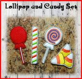 In The Hoop Felt Cand Set 1 Lolli and Candy Corn Embroidery Machine Designs