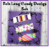 In The Hoop Felt Candy Set 3 Embroidery Machine Designs