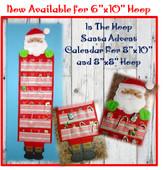 In The Hoop Advent Countdown Santa Calendar Embroidery Machine Design Set