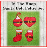 In The Hoop Santa Belt Felt Pieces Set for Embroidery Machine