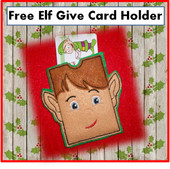 In The Hoop Elf Gift Card Holder Embroidery Machine Design