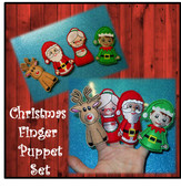 In The Hoop Christmas Finger Puppet Embroidery Machine Design Set
