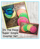 In The Hoop Super Simpl Coaster Embroider Machine Design Set