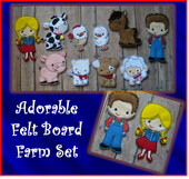 In The Hoop Felt Board Farm Embroidery Machine Design Set