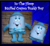In the hoop stuffed Crayon Buddy Boy Embroidery Machine Design