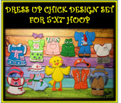 "In The Hoop Dress Up Chick Embroidery Machine Design Set for 5""x7"" Hoop"