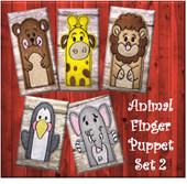 In The Hoop Felt Animal Finger Puppet Embroidery Machine Design Set 2