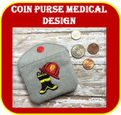 In The Hoop Fire Man Coin Purse Embroidery Machine Design