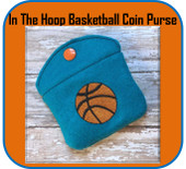 In The Hoop Basket Bal Coin Purse Embroidery Machine Design