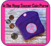 In The Hoop Soccer Ball Coin Purse Embroidery Machine Design