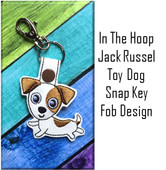 In the Hoop Jack Russell Key Fob Embroidery Machine Design