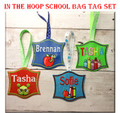 In The Hoop School Tags Embroidery Design Set