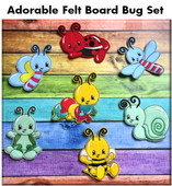 In the Hoop Felt Board Bugs Embroidery Machine Design Set