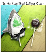 In The Hoop Shark Lollipop Cover Embroidery Machine Design
