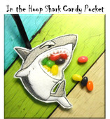 In The Hoop Shark Candy Pocket Embroidery Machine Design