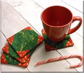 In The Hoop Reindeer Coaster Embroidery Machine Design Set