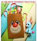 In The Hoop Reindeer Treat Bag Embroidery Machine Design