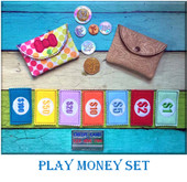 In the Hoop Money & Wallet Play Set Embroidery Machine Design