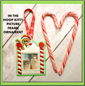 In The Hoop Kitty Picture Frame Ornament Embroidery Machine Design