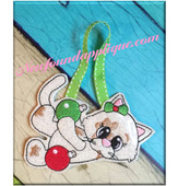 In The Hoop Kitty Ornament With Decorations Embroidery Machine Design
