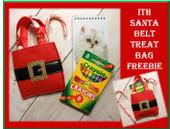 In The Hoop Santa Belt Treat Bag Embroidery Machine Design