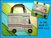 In the hoop RV Tote Embroidery Machine Design