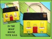 In the Hoop House Tote Embroidery Machine Design