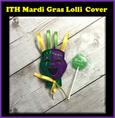 In The Hoop Mardi Gras Mask Lollipop Cover Embroidery Machine Design
