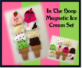 In The Hoop Magnetic Ice Cream Embroidery Machine Design Set